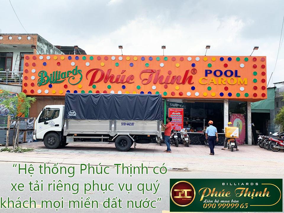 Hệ thống Phúc Thịnh có xe tải riêng phục vụ khách hàng tận nơi